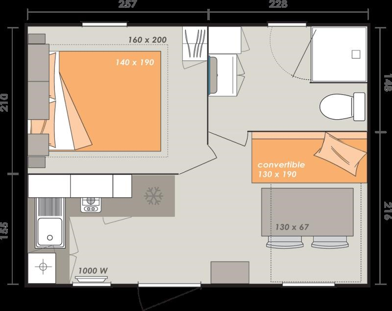 plan mobil home confort