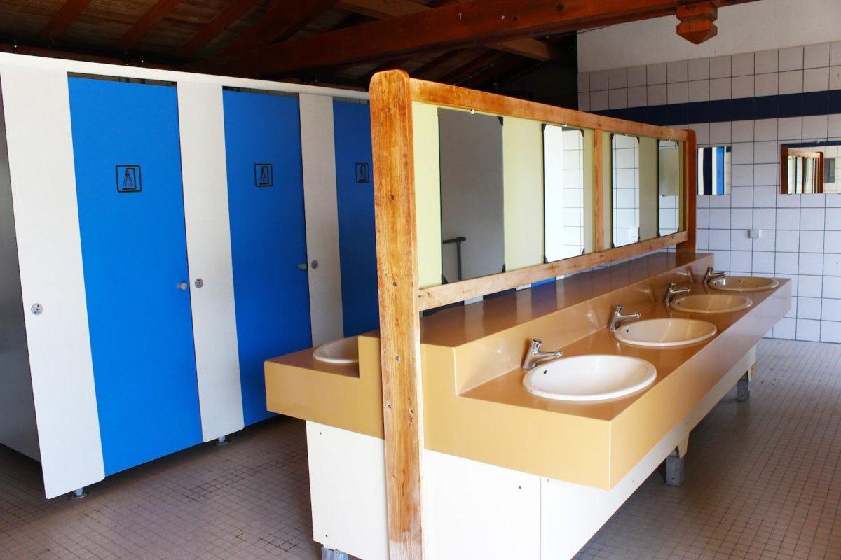 sanitaires du camping le Boulou Pyrénées Orientales