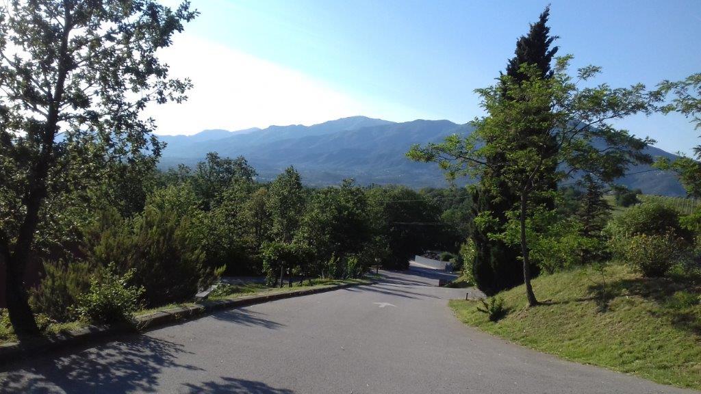 Emplacement avec vue sur la montagne