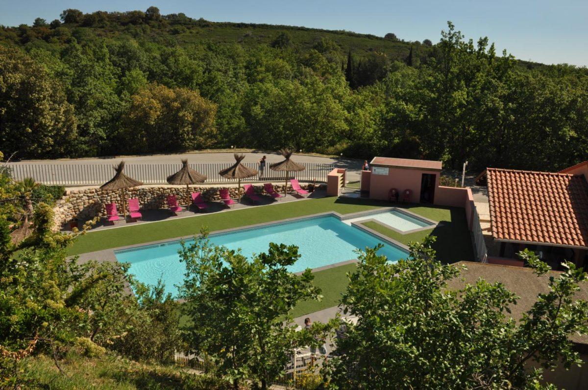 piscine du camping le Boulou Pyrénées Orientales