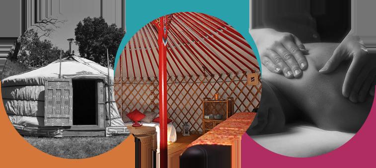 camping proposant des massages