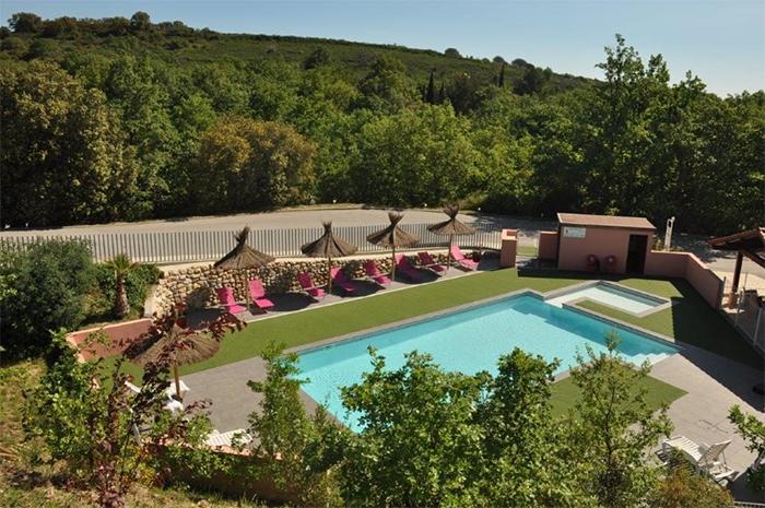 piscine camping nature Mas Ilinas