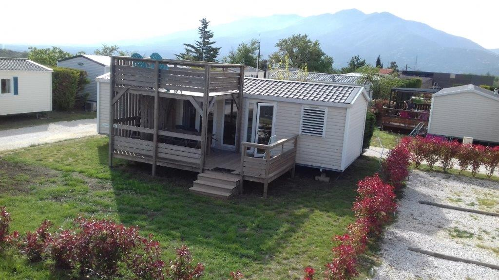 location mobil home camping à taille humaine