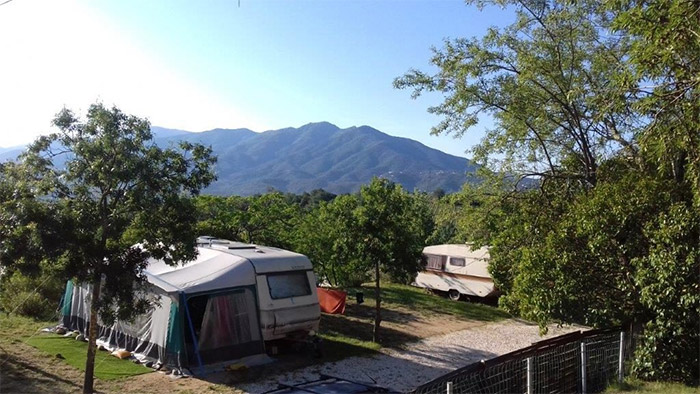 location dans un camping nature