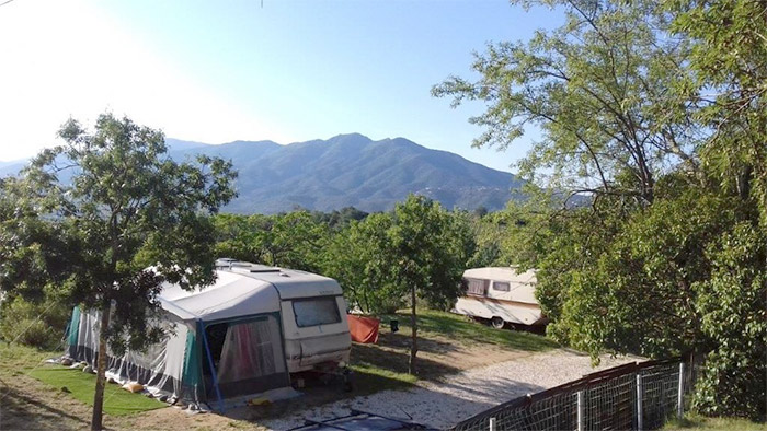 Emplacement sur un camping proche à Argelès sur Mer